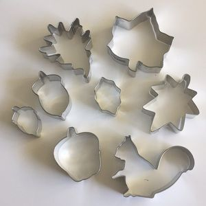 Fall Themed Cookie Cutters (Metal)—Set Of 8